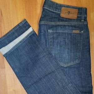 NWOT Men 34×32 raw 7 for all mankind from Saks